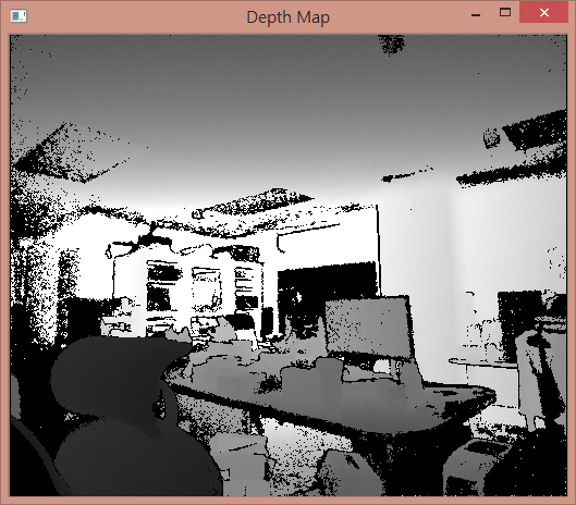 K4W v2 C++ Part 2:使用 OpenCV 顯示深度影像